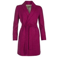 Magee Clothing Pink Clooney Donegal Tweed Cardigan Coat