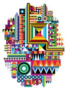 bold colours pattern art