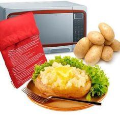 Potato Express Microwave Oven Baked Potato Bag Baked Red Potatoes, Potatoes In Oven, Instant Potatoes, How To Cook Potatoes, Boil Potatoes, Roasted Potatoes, Baked Potato Microwave, Baked Potato Toppings, Microwave Baking