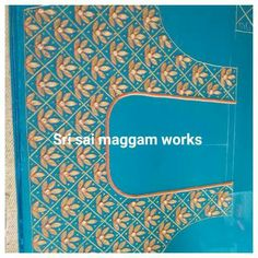 Blouse Neck Patterns, Mirror Work Blouse, Maggam Work Designs, Plain Saree, Embroidered Blouse, Blue Blouse, Saree Blouse, Blouse Designs, Machine Embroidery