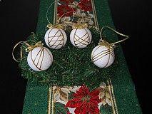 Dekorácie - Vianočný set bielo-zlatý - 3168822