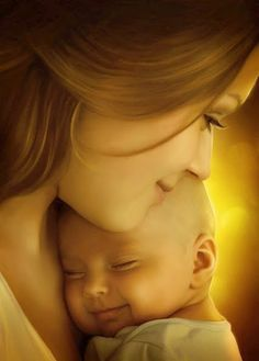 Mother and child Mother And Child Images, Mother And Child Drawing, Mother Daughter Art, Mother Art, Children Images, Drawing For Kids, Mother Baby Photography, Cute Kids Photography, Mother And Baby Paintings