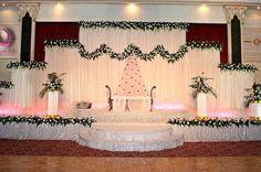 Reception Stage Decor, Wedding Backdrop Design, Wedding Reception Backdrop, Engagement Stage Decoration, Wedding Hall Decorations, Marriage Decoration, Indoor Wedding, Vestidos, Altar Decorations