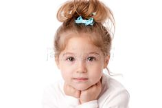 cool  baby girl with brown eyes and brown hair hd Real People  Head Shoulders Caucasian Smiling Little Girl
