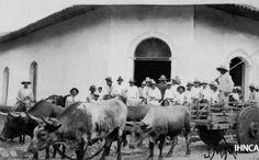 Escena cotidiana en una ciudad de la región norte de Nicaragua en la primera mitad del siglo XX