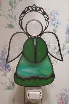 Angel Night Light in Stained Glass by CustomStainedGlassNC on Etsy