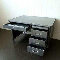 tanker desk refinished by @newfoundstudio