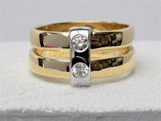 oude trouwringen samen verwerken tot 1 draagbare ring met 2 briljanten www.fannyvandenheuvel.be