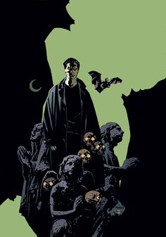 Mike Mignola-illustrated cover of Angel #12, published by Dark Horse Comics in 2000.