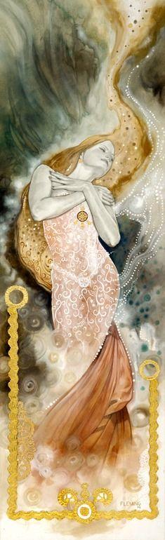 "Mucha like - Saatchi Online Artist: Tom Fleming; Giclée Print, 2009, Printmaking ""ESSENCE (soul)"""