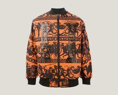 Shop KTZ warrior print bomber jacket from Farfetch