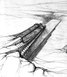 The Oblique Function by Claude Parent and Paul Virilio.  The Oblique Function was first developed in the 60's by Architecture Principe (Claude Parent & Paul Virilio) and since then is still the main element of Parent's architecture (see previous article). The idea was to tilt the ground in order to revolutionize the old paradigm of the vertical wall. In fact, being inclined, the wall becomes experiencable and so are the cities imagined by the two French architects.