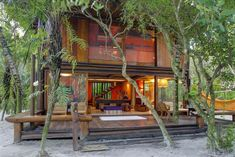 Tropical House Design, Tropical Houses, Modern House Design, Modern Tropical, Tropical Style, Rest House, My House, Bahay Kubo Design Philippines, Bamboo House Bali