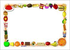 Food-themed A4 page borders (SB3888) - SparkleBox