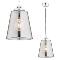 LAMPA wisząca DELI 3948 Argon szklana OPRAWA zwis grafitowy Ceiling Lights, Lighting, Pendant, Home Decor, Decoration Home, Room Decor, Hang Tags, Lights, Pendants