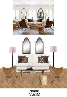 An airy, neutral, light living room originally featured on @houseandhome and recreated by @audreycdyer for Copy Cat Chic