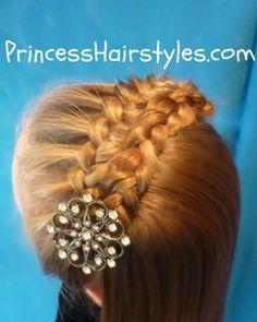 Folded Braid Headband Hairstyle          Double Braided Headband    (Milkmaid Braids or a Crown Braid Cheat!)