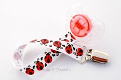 Cute as a bug UNIVERSAL Pacifier clip or binky holder, Girl Pacifier Clip