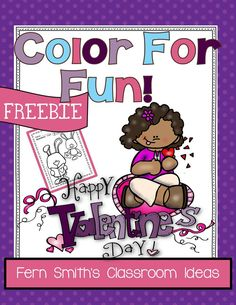 Fern's Freebie Friday ~ FREE St. Valentine's Day Fun! One Color For Fun Printable Coloring Page #FreebieFriday #Free