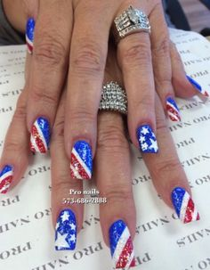 Nails for 4th July