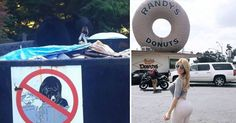 Bear in dumpster and hot girl by Randy's Donuts Make You Feel, You Can Do, How To Make, Are You Serious, Mug Shots, Feel Good, Funny Memes, Make It Yourself, Mugs