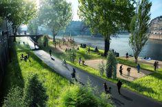 Design Hub - блог о дизайне интерьера и архитектуре: Парк и пляж на месте шумной автострады в Париже