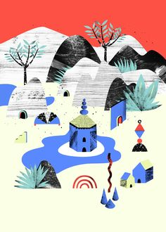 The best in contemporary illustration and animation Autumn Illustration, Collage Illustration, Graphic Illustration, Illustration Mignonne, Creative Colour, Art Moderne, Art Graphique, Art Sketchbook, Graphic Prints