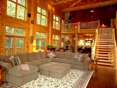 Luxury Log Cabin Great Room, WOW