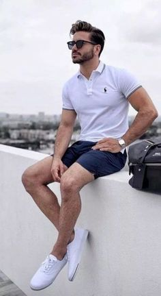 18 trendy summer men fashion ideas you must try 10 ⋆ talkinggames net is part of Summer outfits men - 18 trendy summer men fashion ideas you must try 10 Trendy Mens Fashion, Stylish Mens Outfits, Casual Outfits, Men Casual, Stylish Clothes, White Shirt Outfits, Outfits Fo, Men Clothes, Fashion Sale