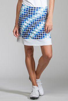 Cube Print Merryl Sport Skort Jackie Skort Black / Black Ice Zig Zag #golf #apparel #sportsapparel #fashion #golfapparel #golffashion #golfskort #skort #skirt #golfskirt