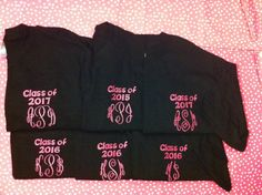 "Graduation Year Monogrammed Shirts - Personalized with ""Class of 20__"" on Etsy, $18.00"