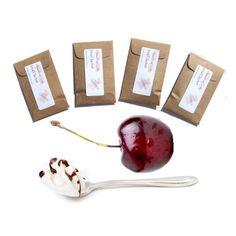 4 Bing Cherry Blush Scented Envelope Sachets by pebblecreekcandles,