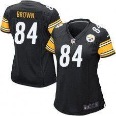 NFL Women's Elite Nike Nike  Pittsburgh Steelers #84 Antonio Brown Team Color Black Jersey $109.99