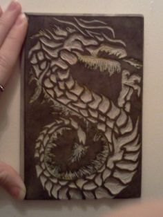 Carved Dragon(for printmaking) by Scarlet-truth on DeviantArt