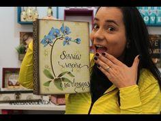 DIY | Faça Você Mesmo | Caixa com Stencil de Orquídea | Livia Fiorelli | Life Artesanato - YouTube