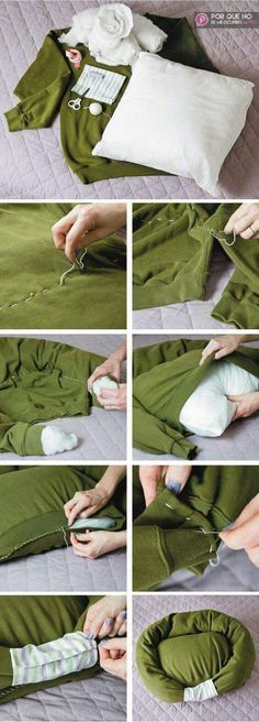 15 Ideas for diy dog bed sweatshirt pets Diy Dog Bed, Diy Bed, Animal Projects, Dog Sweaters, Cat Furniture, Diy Stuffed Animals, Pet Beds, Pet Accessories, Cat Toys