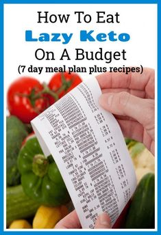 Lazy Keto On A Budget (7 Day… #ketodietplans 7 Day Meal Plan, Keto Meal Plan, Diet Meal Plans, Atkins Meal Plan, Keto On A Budget, Budget Cooking, Budget Meal Planning, Lazy, Keto Diet For Beginners