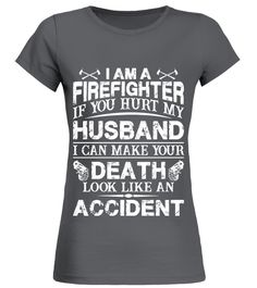 I Am A Husband | Firefighter Shirts (Round neck T-Shirt Woman - Charcoal) firemen gifts ideas, firemen gifts, firefighter shadow box #besafetoken #firefighter #fireservice, back to school, aesthetic wallpaper, y2k fashion