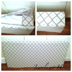 Instructions for sewing an cushion cover to make a daybed out of a crib mattress | Jewels at Home or how about a head board?