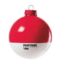 "PANTONE Weihnachtskugel Rot ""186 Red"""