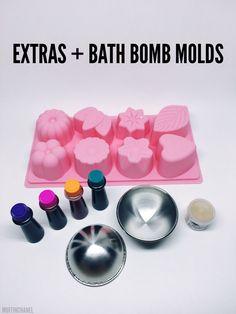 MuffinChanel DIY Bath Bomb LUSH recipe essential oils bath bombs molds ingredients sex bomb the experimenter demo diy extra
