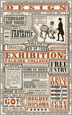 A Dusty Old Blog: Creative Carnival Poster