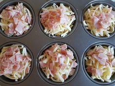 ham, cheese, egg, muffins, tray, recipe