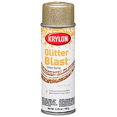 This Gold Glitter Blast Spray Paint allows you to cover nearly any surface such as paper, foam, metal and plastic.