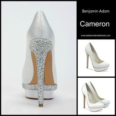 Sexy and sophisticated The Cameron by Benjamin Adams. www.bellissimabridalshoes.com