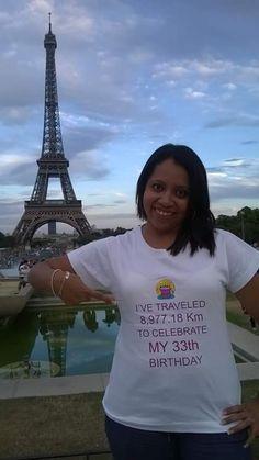 Fotografía:Silvia Ivette Marin - París, viaja desde el Salvador para celebrar su 33 cumpleaños allí.