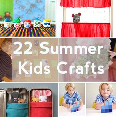 Here are some great crafts for your kids this summer! #Summer #Kids #Crafts
