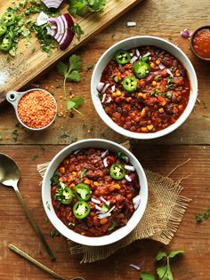 One Pot Red Lentil Chili