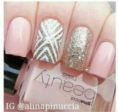 Light pink white and sparkly gray