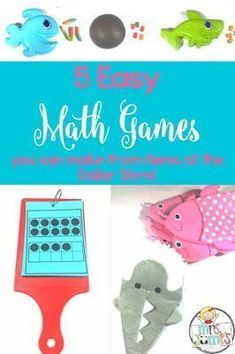 Math games for kindergarten and first grade. Fun activities for student engagement. Number sense and subitizing activities with ten frames.
